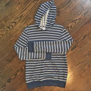 Navy & White Striped Hoodie Gently Used